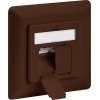 CAT 6a wall plate flush mounting, brown, 2x RJ45 s...