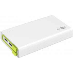 Akupank: 3xUSB 2.0A, 20000mAh Li-Po, integreeritud micro-USB kaabliga (laeb kuni 10 nutitelefoni)