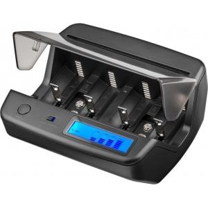 Akulaadija (4xAA; 4xAAA; 1xC; 1xD; 2x9V), LCD display