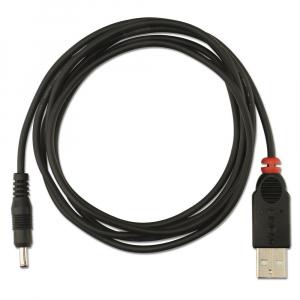 USB 2.0 kaabel A - DC 1.1mm/3.5mm 1.5m, 5V, must