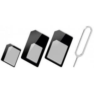 SIM-kaardi adapterite komplekt, must
