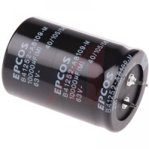 Elektrolüütkondensaator 10000uF 63V Push In, EPCOS B41252 seeria 105 kraadi
