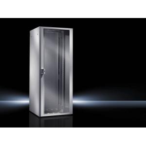 Seadmekapp TE 8000 24U 1200x600x600 k,l,s, klaasuks, hall