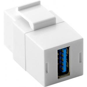 Keystone moodul: USB 3.0 A (F) - USB 3.0 A (F), valge