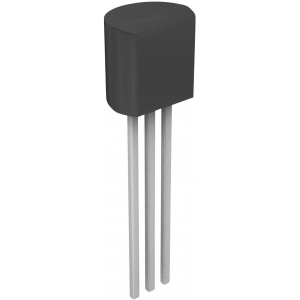 Transistor bipolar 2N5551TA NPN  600 mA, 160 V, 3-Pin TO-92