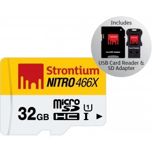 Mälukaart Nitro Micro SDHC 32GB, Class10 UHS-I + USB-kaardilugeja ja SD adapter