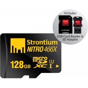 Mälukaart 128GB micro SDXC, Class10 UHS-I + USB-kaardilugeja ja SD adapter