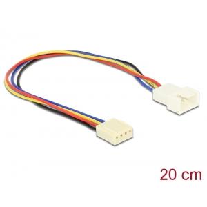 Pikenduskaabel 4 pin (M) - 4 pin (F) , PWM, 22 AWG, ventilaatoritele, 0.2m