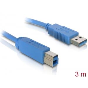 USB 3.0 kaabel A - B 3.0m, sinine