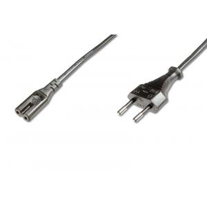 220V Toitekaabel 1.8m, must, C7
