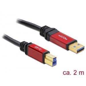 USB 3.0 kaabel A - B 2.0m, kullatud metall kestaga, premium