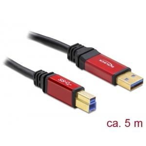 USB 3.0 kaabel A - B 5.0m, kullatud metall kestaga, premium