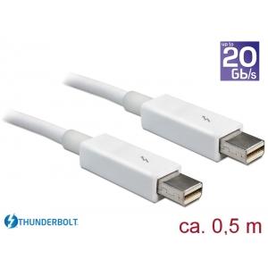Thunderbolt 2 kaabel 0.5m, valge, kuni 20Gbps