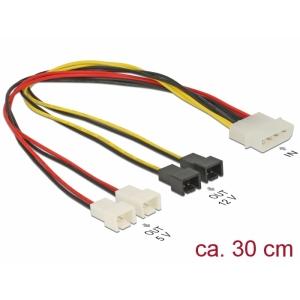 Toitekaabel Molex (M) 4pin - 4 x 2 pin, 0.30m