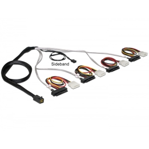 Mini SAS HD kaabel 0.5m (SFF-8643 > 4 x SAS SFF-8482 + toide)
