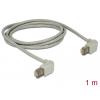 Patch kaabel CAT5E S/FTP 1.0m, hall, (2x90° nurgaga üles), LSZH, CU