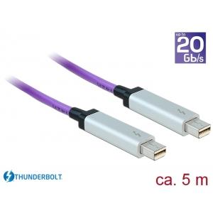 Thunderbolt 2 kaabel 5.0m, lilla, kuni 20Gbps, optikaga
