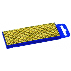 Yellow Snap On Cable Marker Pre-printed, Pack of 1000, 3mm Width 5 mm