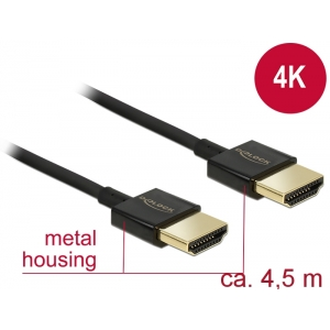 HDMI kaabel 4.5m, ethernet, 3D 1920x1080@60Hz, 4K 3840x2160@60Hz,Slim, must