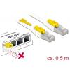 Võrgukaabel Cat6a S/STP 0.5m, valge, lukuga, LSZH, CU