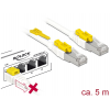 Võrgukaabel Cat6a S/STP 5.0m, valge, lukuga, LSZH, CU
