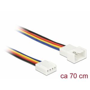Pikenduskaabel 4 pin (M) - 4 pin (F) , PWM, 22 AWG, ventilaatoritele, 0.7m