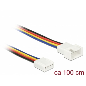Pikenduskaabel 4 pin (M) - 4 pin (F) , PWM, 22 AWG, ventilaatoritele, 1.0m
