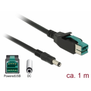PoweredUSB kaabel (M) 12V -DC 5.5 x 2.1 mm (M) POS printeritele ja terminalidele
