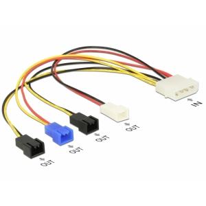 Toitekaabel Molex (M) 4pin - 4 x 2 pin (12V/7V/5V), 0.20m