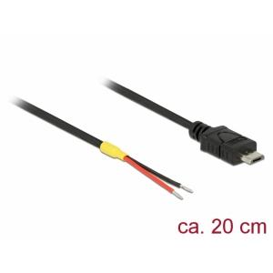USB kaabel, Micro-B, Lahtiste otstega, 0.2m