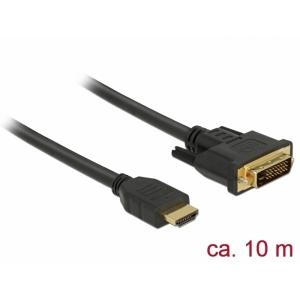HDMI - DVI-D Dual Link kaabel 10.0m, kullatud 2560x1600@60Hz, (sign suund HDMI <> DVI) töötab mõlemas suunas