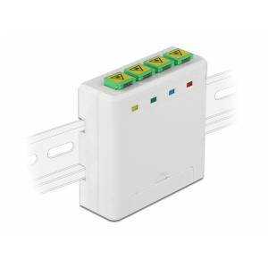 FO karp seinale või DIN latile 4 kiudu 4xSC Simplex või LC Duplex plastik