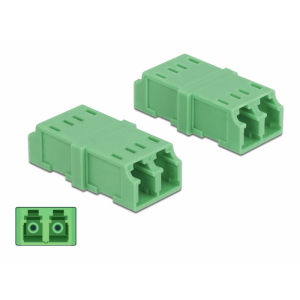 FO adapter singlemode LC duplex roheline 4.tk