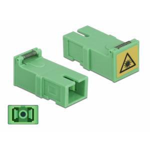 FO adapter singlemode SC simplex roheline 4.tk optika ja tolmu kaitsmega