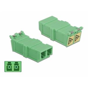 FO adapter singlemode LC duplex roheline 4.tk optika ja tolmu kaitsmega