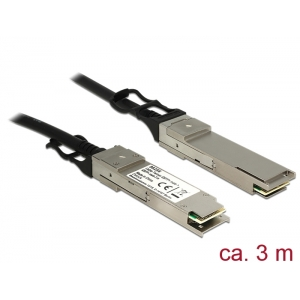 QSFP+ kaabel 3.0m, 10/40G/s, SDR, DDR, QDR, 2/4/8/10G, QSFP, SFF-8436