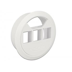 Juhtmerosett keystone moodulite jaoks: 3 pesa, 60mm, valge