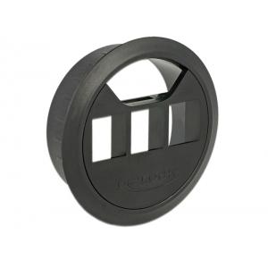 Juhtmerosett keystone moodulite jaoks: 3 pesa, 60mm, must