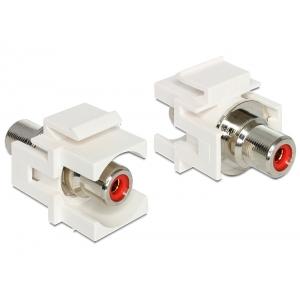 Keystone moodul: RCA F / F, punase otsikuga,