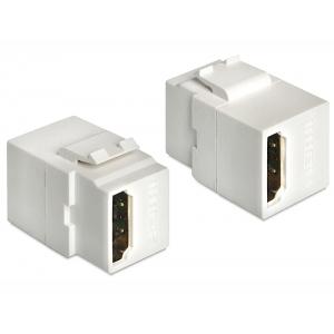 Keystone moodul: HDMI F / F 2160p, valge