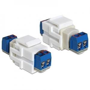Keystone moodul: Kõlarikaabli ühendusterminal, kuni 1.63 mm (14-22AWG)