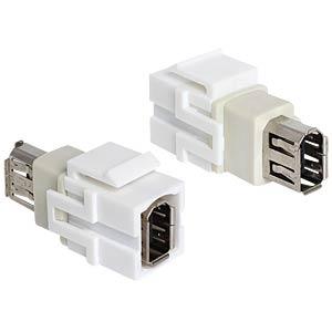 Keystone moodul: FireWire 6 pin F / F