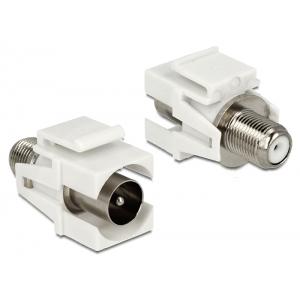 Keystone moodul: IEC-pistik (coax) / F-pesa, valge
