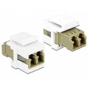 Keystone moodul: LC Duplex F / F, Multimode