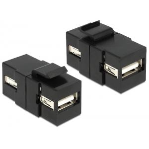 Keystone moodul: USB 2.0 A F / F, must