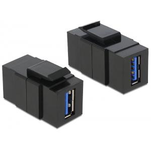 Keystone moodul: USB 3.0 A F / F, must