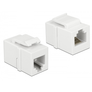 Keystone moodul: RJ12  F / F (RJ11 pistiku jaoks) valge