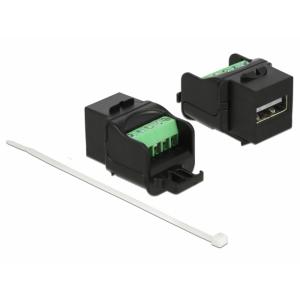Keystone moodul: USB 2.0 A F / Terminal block, must