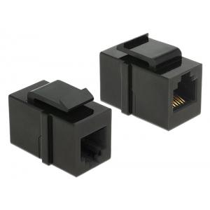 Keystone moodul: RJ12  F / F (RJ11 pistiku jaoks) must