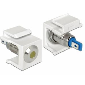 Keystone moodul: kollane 6V LED, valge, lame...